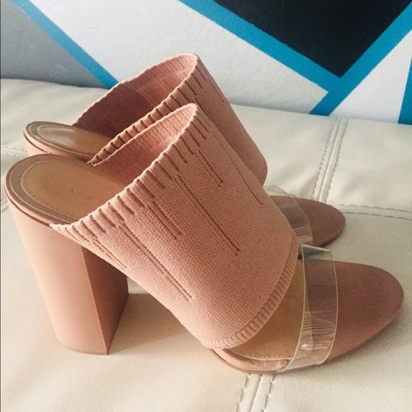4d4b6f4faa6 Zara Stretch Fabric High Heel Mule. M 5b27a9a7c9bf50758d751dfc